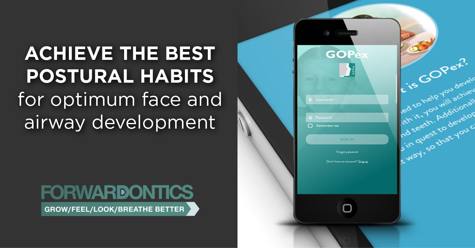 New App to achieve the best postural habits for optimum face and airway development